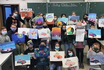 Fünftklässler malten Bilder für die Seniorenresidenz Gevita