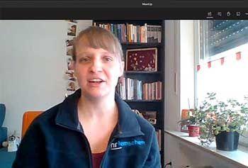 Videokonferenz mit der Journalistin Sabrina Fillisch